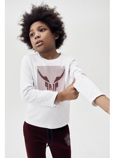 Nebbati Erkek Çocuk Beyaz T-Shirt 20Fw0Nb3515 Beyaz